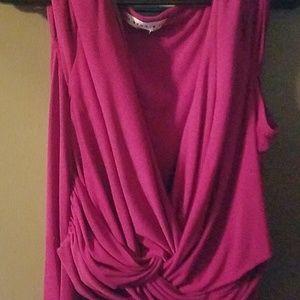 16w purple dress AA studio brand. low cut top
